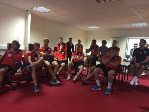 Barnsley Football Club showing support for the #ill_legal highs campaign